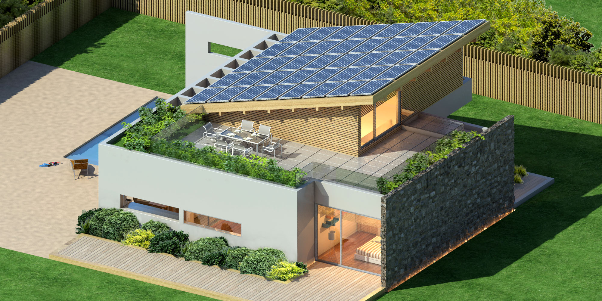 Arzumanidis investments new build solar house in greece for Modern massiv bauen halle
